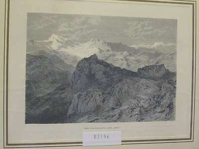 83196-Schweiz-Swiss-Switzerland-Pilatus Gipfel-Der Esel-TH-Wood engraving