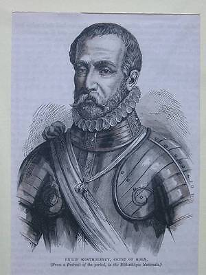 87898-Porträts-Portraits-Philip Montmorency Horn-T Holzstich-Wood engraving