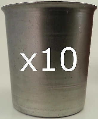 10 seamless votive candle making moulds ~ top quality metal ~ soy paraffin wax