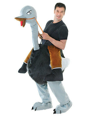 Mens Bernie /& Oswald Ostrich TV Novelty 70s Fancy Dress Costume