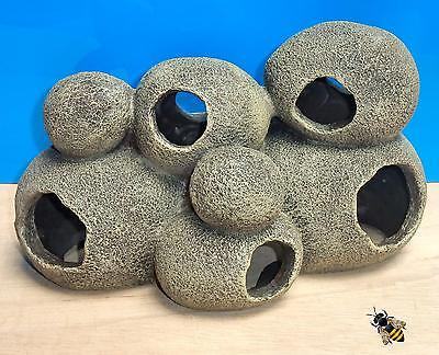Cave Rock Hide Pebble Large Tunnel Aquarium Ornament Fish Tank Decoration New