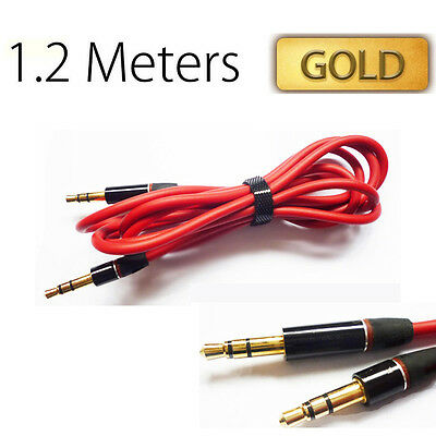 1.2m 3.5mm Mini STEREO Jack to Jack Aux Cable Audio Auxiliary Lead PC Car UK
