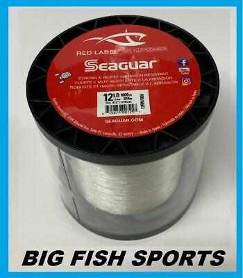 SEAGUAR RED LABEL 100% Fluorocarbon 12lb/1000yd 12RM1000 NEW!
