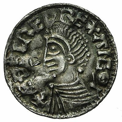 Saxon Aethelred Ii Long Cross Type Penny  S1151  Lincoln Mint