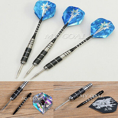 3pcs/Set Professional 90% Tungsten Steel Needle Tip Darts With 3 Dart Flights