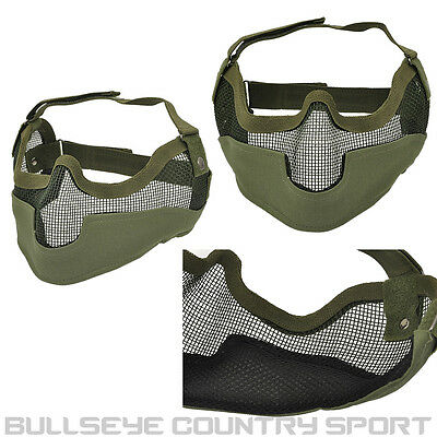 Cobra Mesh Mask V2 Od Green With Ear Protection Airsoft