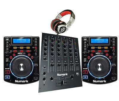 DJ Package 1 - Numark NDX500 USB/CD/Controller M6 MIXER & REDWAVE HEADPHONES