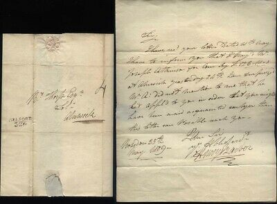 1809 BELFORD Post marked letter from ROSEDON Village, charged 4d to Alnwick
