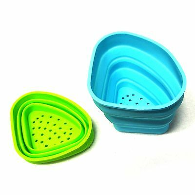 New Collapsible Silicone Food Waste Sink Basket Sink Waste Filter Blue Or Green
