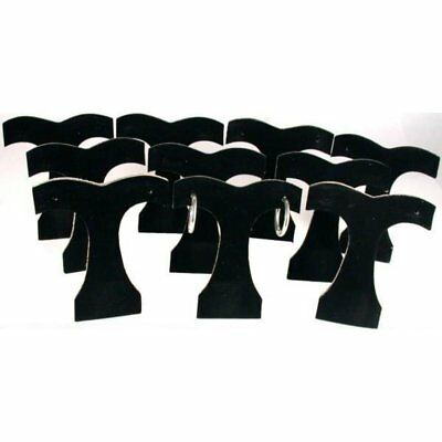 10 Black Velvet Earring Display Tree Jewelry Showcase