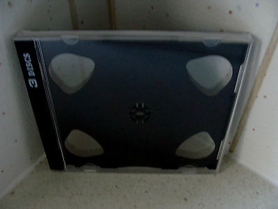 "Case: CD / DVD / Photo /  Games - 1 For 3 Discs  Clear With Black ""Split"" Tray"