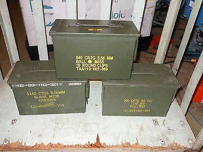FOUR PACK - 50CAL M2A1 MILITARY SURPLUS AMMO CAN Nice Condition