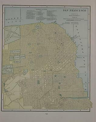 1892 San Francisco, Ca. Color Atlas Map^ Council Bluffs on Back..124 years-Old!