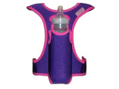 Bobalong Baby Bottle & Pacifier Holder Vest – Grape