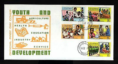 7959-LESOTHO-OFFICIAL FIRST DAY COVER MASERU.1974.Youth and Develop.AFRICA.FDC.