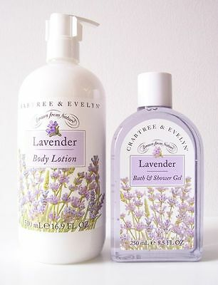 Crabtree & Evelyn Classic Lavender Body Lotion & Shower Gel
