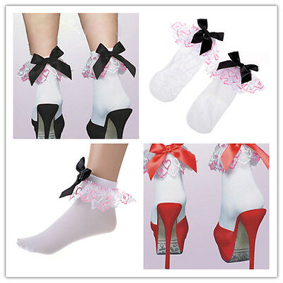 Sweet Cute Women Ladies Princess Girl Vintage Lace Ruffle Frilly Ankle Socks Hot