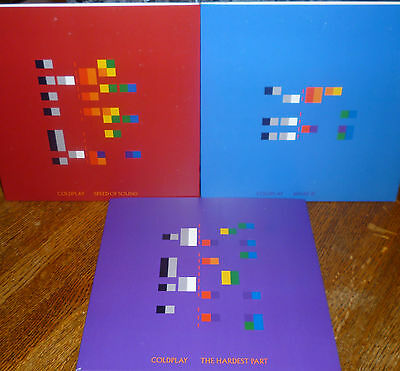 "* * 3 Coldplay Unplayed Mint Audiophile ""speed Of Sound/what If/hardest Part""!"