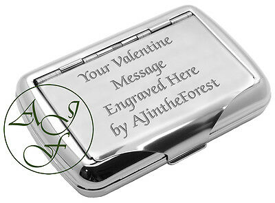 Personalised Engraved Tobacco Tin Valentines Day Gift