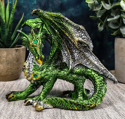 Land Of Myth And Legends Green Armored Dragon Figurine Collectible Golden Axe