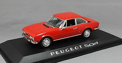 Norev Peugeot 504 Coupe in Red 1969 475416 1/43 NEW