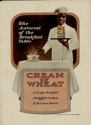 1910 Cream Of Wheat Ad /  The Autocrat Of The Breakfast Table...