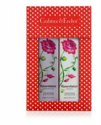 Crabtree & Evelyn Rosewater Duo Body Lotion and Bath & Shower Gel