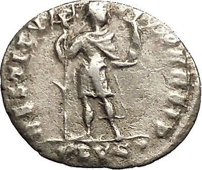 VALENS 366AD Lyons Authentic Ancient Silver Roman SILIQUA Coin Labarum i53411