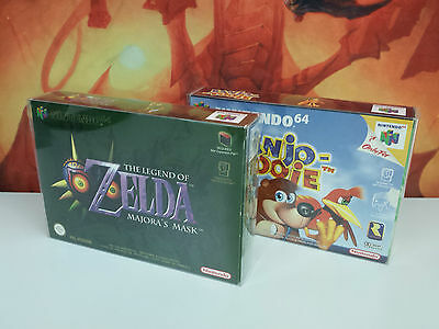10 X Snug Fit Box Protectors Fundas N64 Nintendo 64