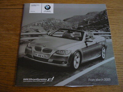 Bmw 3 Series Convertible Price List Sales Brochure March 2009