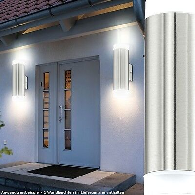 2er set led au enleuchten 10 watt up and down wandlampen terrasse hxd 21x7 6 cm eur 54 90. Black Bedroom Furniture Sets. Home Design Ideas