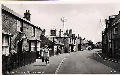 Huntingtonshire. Somersham High Street. Rp. Unposted. Qe2. Single. Standard.