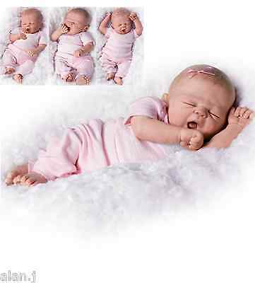 "Ashton Drake ""So Sleepy Sophie"" Newborn Poseable baby doll"