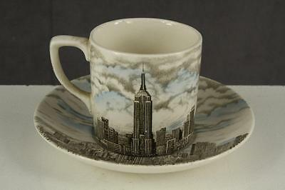 Vintage Johnson Brothers English China Demitasse Cup EMPIRE STATE BUILDING