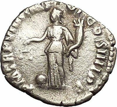 COMMODUS son of Marcus Aurelius Rare Silver Ancient Roman Coin Aequitas  i53473