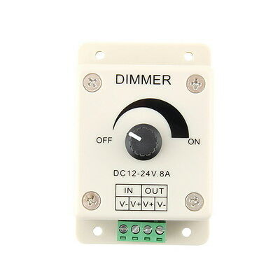 DC 12V 8A LED Light Protect Strip Dimmer Adjustable Brightness Controller GU