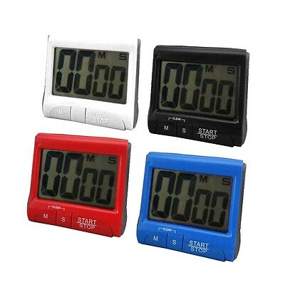 Red Large LCD Digital Kitchen Timer Count-Down Up Clock Loud Alarm GK