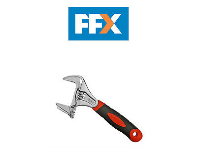 Faithfull FAIAS200W46 Adjustable Spanner Wide Mouth 46mm Cap 200mm