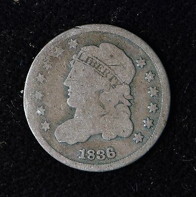 1836 5C Capped Bust Silver Half Dime Keydate Us Type Coin