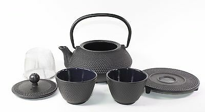 24 fl oz Black Small Hobnail Japanese Cast Iron Teapot Tetsubin Infuser Tea Set