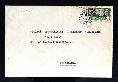 7993-SPANISH MOROCCO-SPAIN COLONIES-OLD COVER TETUAN to MAROC.1951.MARRUECOS.