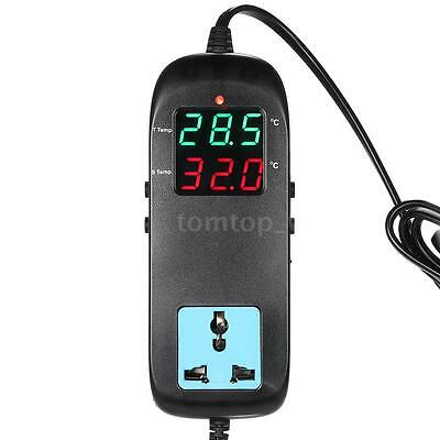 Digital Thermostat Temperature Controller Socket for Vegetable Greenhouse F6A2