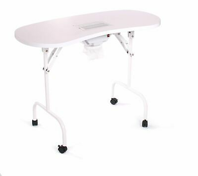 Urbanity portable mobile manicure nail table with extractor fan dust collector f