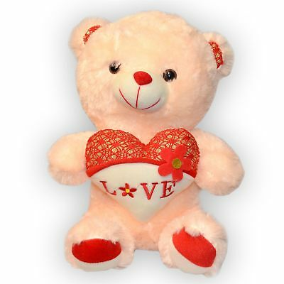 "16"" Soft Teddy Bear with Holding Red-White Head with Love for Valentine Gifts"