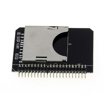 """SD SDHC SDXC MMC Memory Card to IDE 2.5"""" 44Pin Male Adapter Converter Salable"""