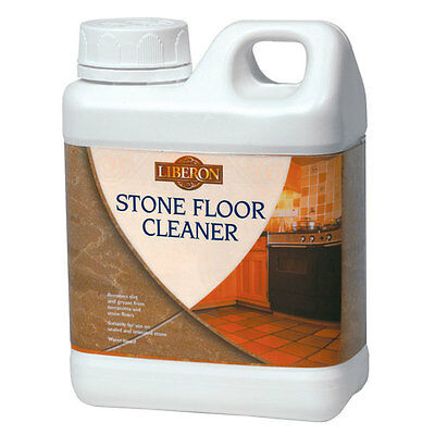 Liberon Marble Granite and Natural Stone Floor Cleaner 1 Litre Removes Dirt