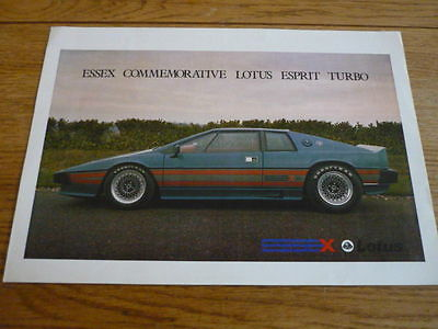 LOTUS ESPRIT ESSEX TURBO CAR BROCHURE jm