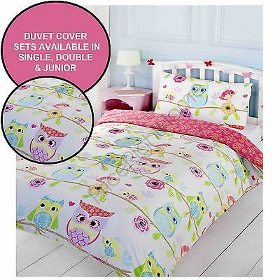 Owl & Friends Duvet Cover Sets Available In Single, Double & Junior Kids Bedding