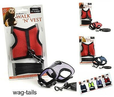 SNF Rat Ferret Guinea Pig Rabbit Harness & Lead Set Vest Jacket 03802