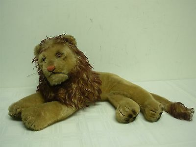 """VINTAGE STEIFF LAYING DOWN LEO THE LION ~ 9"""" HIGH x 19"""" WIDE"""